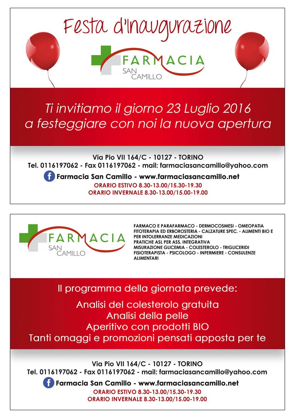 Volantino Farmacia San Camillo